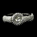 Elegance by Carbonneau B-8662-S-Clear Silver Clear Crystal Bridal Beach Seashell Bangle Bracelet 8662