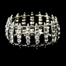 Elegance by Carbonneau B-8690-S-Clear Antique Silver Clear Crystal Bridal Stretch Cuff Bracelet 8690