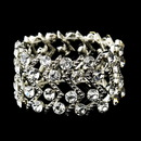 Elegance by Carbonneau B-8691-S-Clear Silver Clear Crystal Stretch Cuff Bridal Bracelet 8691