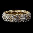 Elegance by Carbonneau B-8703-Gold-Clear Sparkling Gold Clear Crystal Stretch Bracelet 8703