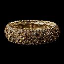 Elegance by Carbonneau B-8703-Gold-Topaz Sparkling Gold Topaz Crystal Stretch Bracelet 8703