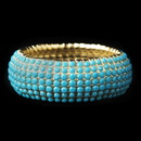 Elegance by Carbonneau B-8802-G-Turquoise Gold Turquoise Stretch Bracelet 8802