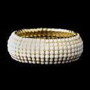 Elegance by Carbonneau B-8802-G-White Gold White Stretch Bracelet 8802