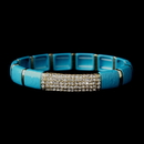 Elegance by Carbonneau B-8811-G-Turquoise Gold Turquoise Stretch Bracelet 8811