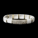 Elegance by Carbonneau B-8811-G-White Gold White Stretch Bracelet 8811