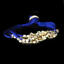 Elegance by Carbonneau B-8812-G-Blue Gold Blue Multi-Strand Fashion Bracelet 8812