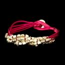 Elegance by Carbonneau B-8812-G-Red Gold Red Multi-Strand Bracelet 8812