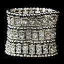 Elegance by Carbonneau B-8850-AS-Clear Antique Silver Clear Crystal Bangle Bracelet 8850
