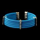 Elegance by Carbonneau B-8865-G-Blue Gold Blue Rhinestone Coiled Designer Inspired Open Cuff Bangle Bracelet 8865