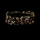 Elegance by Carbonneau B-903-Brown Gorgeous Gold Brown Bridal Bracelet B 903