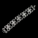 Elegance by Carbonneau B-9086-AS-Clear Antique Silver Rhodium Clear Rhinestone Floral Butterfly Bracelet 9086