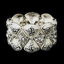 Elegance by Carbonneau B-9240-S-White Silver White Clear Crystal Rhinestone Bridal Stretch Bracelet 9240