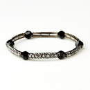 Elegance by Carbonneau B-9246-AC-Smoked Antique Copper Smoked Austrian Crystal Bridal Stretch Bracelet 9246