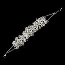 Elegance by Carbonneau Silver Clear Rhinestone & Swarovski Crystal Bead Bracelet 9501