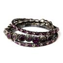Elegance by Carbonneau B-963-Amethyst Antique Silver Amethyst Bracelet 963