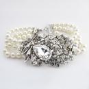 Elegance by Carbonneau B-9885-AS-Ivory Antique Silver Ivory Bracelet 9885
