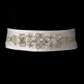 Elegance by Carbonneau Belt-20 Beautiful Beaded Wedding Sash Bridal Belt 20
