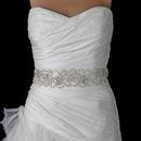 Elegance by Carbonneau Belt-294 Sheer Diamond White Beaded Sequin Rhinestone Bridal Belt 294