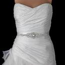 Elegance by Carbonneau Belt-312 Ivory or White Silver Rhinestone Crystal Bridal Belt 312