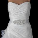 Elegance by Carbonneau Belt-313 Pearl Rhinestone Beaded Bridal Belt 313