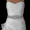 Elegance by Carbonneau Belt-315 Ivory Rhinestone Crystal Bridal Belt 315 Sash