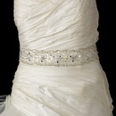 Elegance by Carbonneau Belt-51 Beaded Sash Belt with Rhinestone, Bugle Bead & Sequin Accents