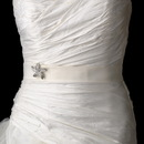 Elegance by Carbonneau Belt-Brooch-3177 Belt with Silver Clear Beach Starfish Brooch 3177