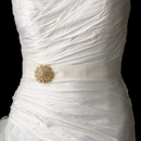 Elegance by Carbonneau Belt-Brooch-3179 Belt with Sun Brooch 3179
