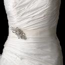 Elegance by Carbonneau Belt-Brooch-3268 Belt with Vintage Ribbon Brooch 3268