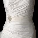 Elegance by Carbonneau Belt-Brooch-3438 Belt with Silver Clear Dangle Pear Brooch 3438
