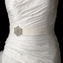 Elegance by Carbonneau Belt-Brooch-36 Belt with Vintage Crystal Snowflake Brooch 36
