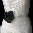 Elegance by Carbonneau Belt-Clip-428-Black Belt with Black Garden Rose Clip 428