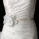 Elegance by Carbonneau Belt-Clip-428-White Belt with White Rose Clip 428