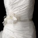Elegance by Carbonneau Belt-Comb-Clip-7794 Belt with Sequins & Bugle Beads Feather Fascinator Flower Comb/Clip 7794