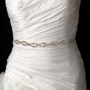 Elegance by Carbonneau Belt-HP-8206-Clear Vintage Satin Ribbon Belt or Headband 8206 with Clear Crystals