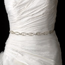 Elegance by Carbonneau Belt-HP-8206-Pearl Vintage Satin Ribbon Belt or Headband 8206 with Pearls