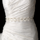 Elegance by Carbonneau Belt-HP-8208 Vintage Fabric & Satin Ribbon Belt or Headband 8208 with Pearls, Beads, & Sequins