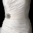 Elegance by Carbonneau Belt-with-Brooch-10 Bridal Sash Belt with Antique Crystal Floral Star Brooch 10