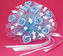 Elegance by Carbonneau bq-119-lt-blue Floral Light Blue Bouquet BQ 119
