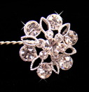 Elegance by Carbonneau BQ-211 Crystal Bouquet Jewelry BQ 211 Silver or Gold