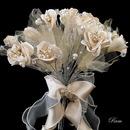 Elegance by Carbonneau BQ-243 Bridal Wedding Bouquet 243 White, Rum, Ivory, Pink