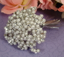 Elegance by Carbonneau BQ-474-Silver Silver White Beaded Pearl Flower Bundle 474