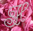 Elegance by Carbonneau BQ-Letters-H Rhinestone Crystal Letter for Bouquet or Centerpiece