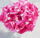 Elegance by Carbonneau BQ-Solataire-Large Crystal Solataire Dazzle Centerpieces - Bouquet Jewelry