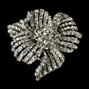 Elegance by Carbonneau Brooch-11-AS-Clear Elegant Vintage Crystal Bridal Pin for Hair or Gown Brooch 11 Silver Clear
