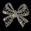 Elegance by Carbonneau Brooch-12-AS-Clear Elegant Vintage Crystal Bridal Pin for Hair or Gown Brooch 12 Silver Clear