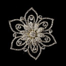 Elegance by Carbonneau Brooch-140-S-Clear Silver Clear Rhinestone Brooch 140