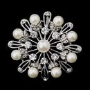 Elegance by Carbonneau Brooch-144-S-Ivory Silver Ivory Pearl Brooch 144