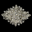 Elegance by Carbonneau Brooch-14-AS-Clear Elegant Vintage Crystal Bridal Pin for Hair or Gown Brooch 14