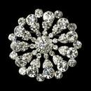 Elegance by Carbonneau Brooch-171-AS-Clear Antique Silver Clear Rhinestone Starburst Flower Bridal Brooch 171